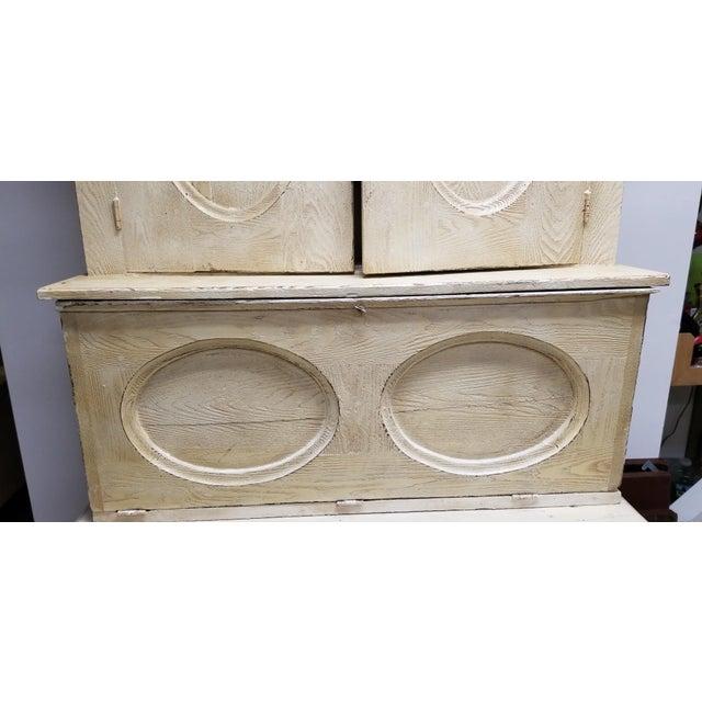Antique White Hutch Desk - Image 8 of 9