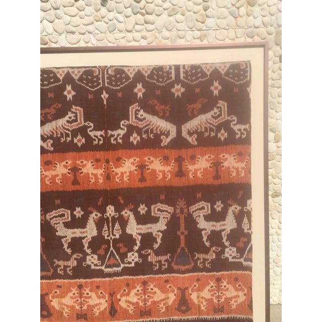 Steve Chase 19th Century Framed Indonesian Ikat Art From Steve Chase Palm Springs Estate For Sale - Image 4 of 6