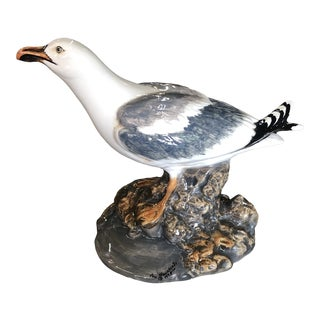 1978 Glazed Ceramic Seagull Figurine For Sale