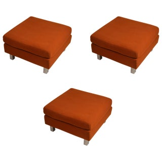 """Set of Three """"Contempo"""" Ottomans, Benches, Footrests, Poufs For Sale"""