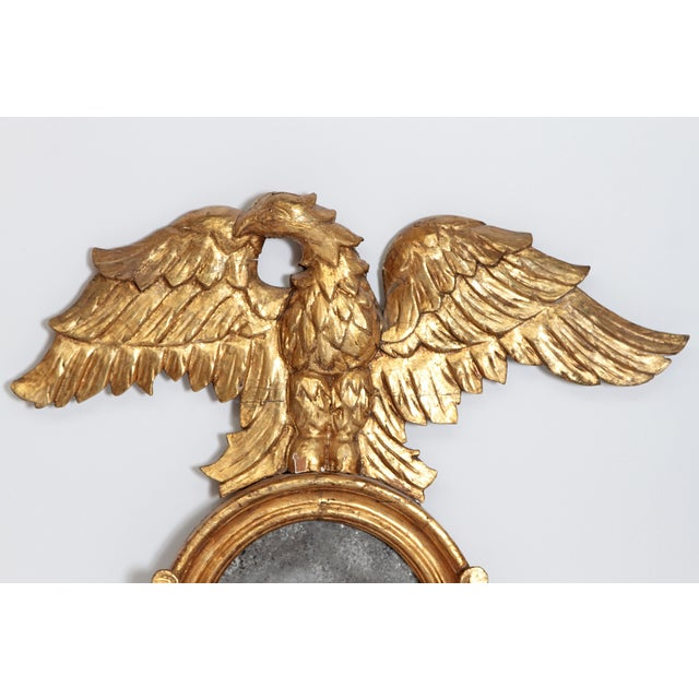 Pair of Giltwood Mirrors With Eagles, Wings Outstretched For Sale - Image 4 of 13