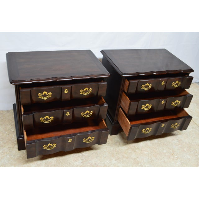 Henredon Solid Mahogany Chippendale Nightstands-a Pair For Sale In Philadelphia - Image 6 of 13