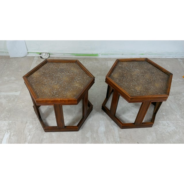 1960s Mid-Century Modern Brown and Saltman End Tables - a Pair For Sale - Image 12 of 12