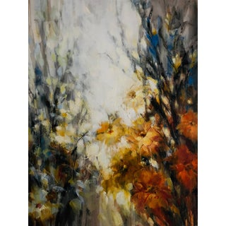 Abstract Floral Oil Painting on Canvas by Timothy Jarvis For Sale