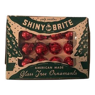 1940s Shiny Brite Balls in Original Box, S/12 For Sale
