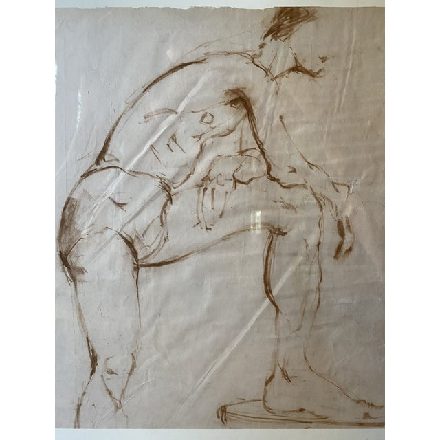 Nude Male Painting Attributed to Helen Beling For Sale - Image 4 of 7