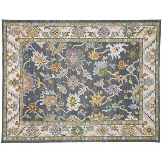Contemporary Oushak Style Rug - 9′4″ × 12′ For Sale