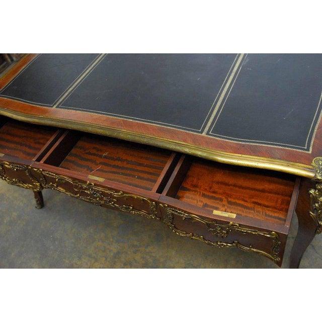 Louis XV Style Ormolu Mounted Figural Bureau Plat Desk For Sale In San Francisco - Image 6 of 10