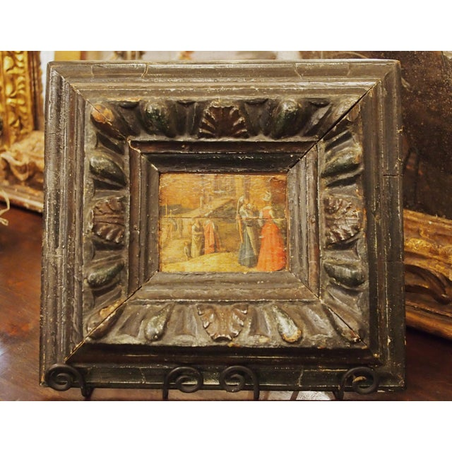 Renaissance Oil on Board Painting of Figures in Front of a Walled City - Image 2 of 7
