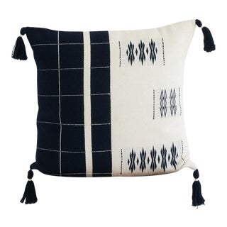 "Calvinia Cushion In Midnight And Ivory - 20"" x 20"" For Sale"