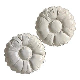 2 Italian Faience Artichoke Plates For Sale