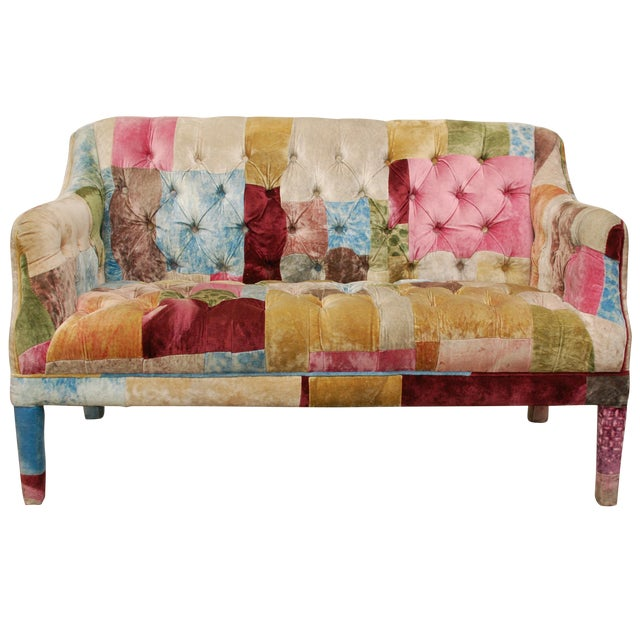 Multicolor Timothy Oulton Loveseat - Image 1 of 7