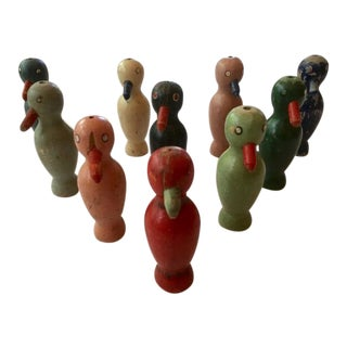 Antique Toy Bowling Pins - Set of 10 For Sale