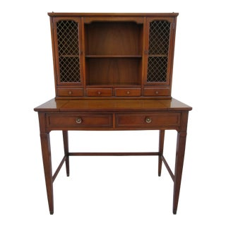 Vintage Drexel Triune Writing Desk With Upper Hutch For Sale