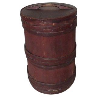 Red Painted Firkin For Sale