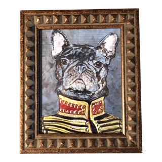 French Bull Dog Print by Judy Henn Military Frenchie For Sale
