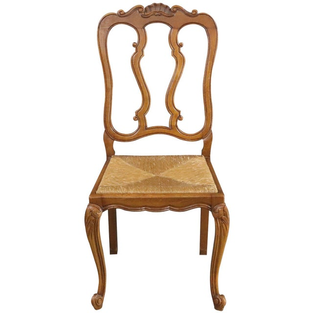 Dining Chairs Louis XV Rococo Vintage French 1950 - Set of 6 For Sale - Image 4 of 11