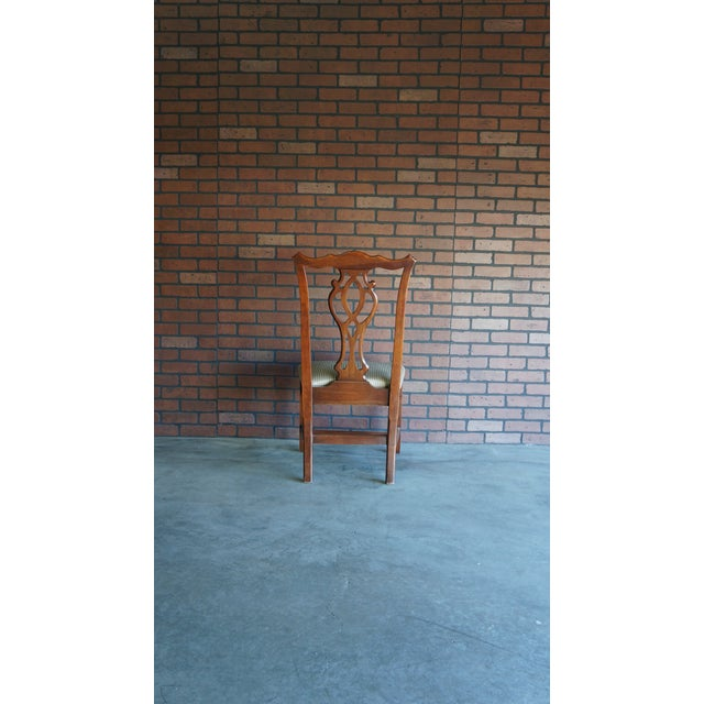 Ethan Allen 1990s Vintage Ethan Allen Georgian Court Dining Chair For Sale - Image 4 of 8