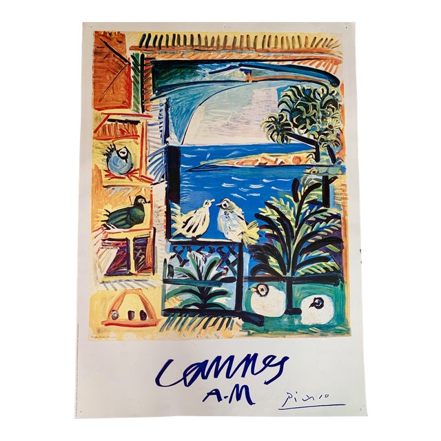 "1994 Pablo Picasso ""Cannes A.M."" Lithographic Poster For Sale"