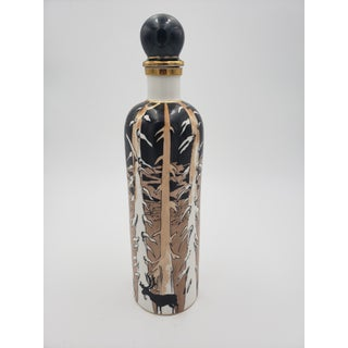 Mid 20th Century Spanish Gold Leaf Hand Painted Decanter Preview