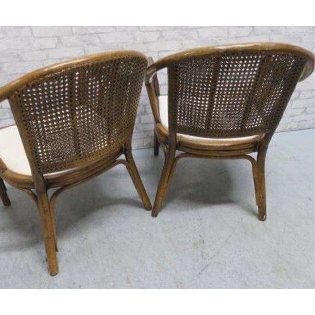 McGuire McGuire Style Rattan Cane Chair a Pair Last Markdown Firm For Sale - Image 4 of 6