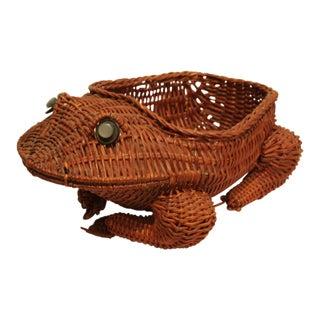 Woven Wicker Frog Basket For Sale
