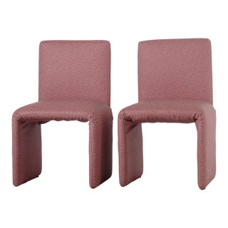 Memphis Style Sculptural Pink Chairs For Sale