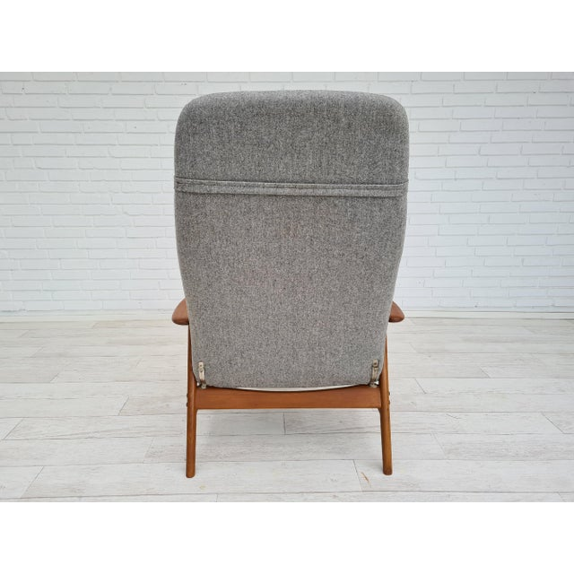Fritz Hansen Danish Design by Alf Svensson, Model Kontour, 70s, Completely Renovated-Reupholstered For Sale - Image 4 of 13