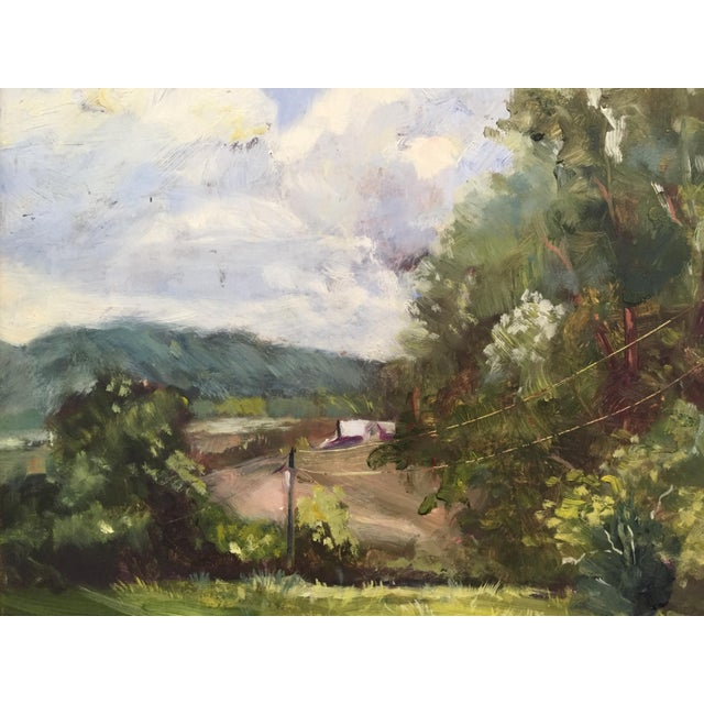 Marina Movshina American Farm Barn Landscape Oil Painting For Sale - Image 4 of 4