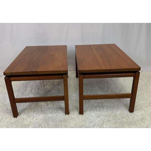 Mid-Century Danish Modern Walnut End Tables by Gunlocke For Sale - Image 11 of 11