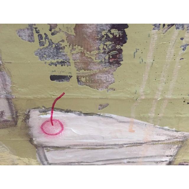 """Christine Bush Roman """"Piece of Cake"""" Painting - Image 4 of 5"""