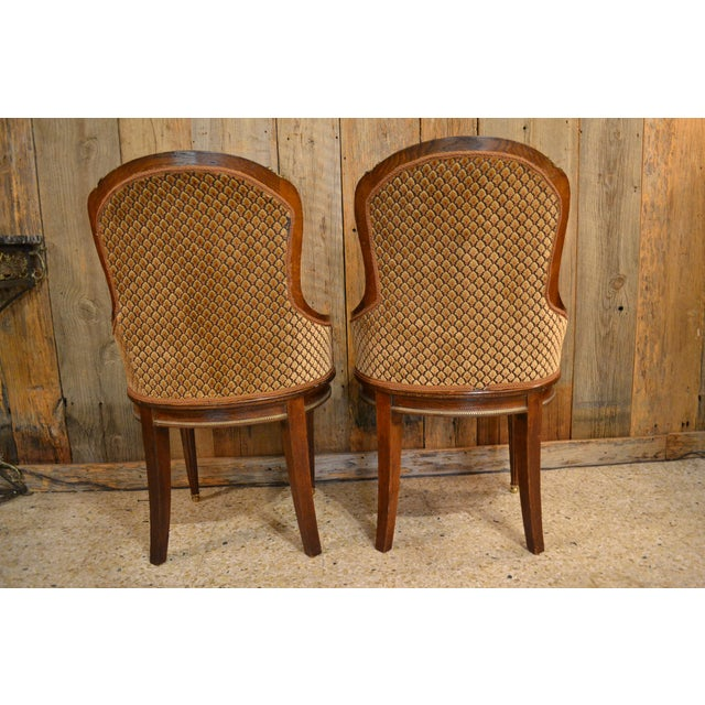 Wood Pair of Antique French Louis XVI Occasional Chairs circa 1880 For Sale - Image 7 of 8