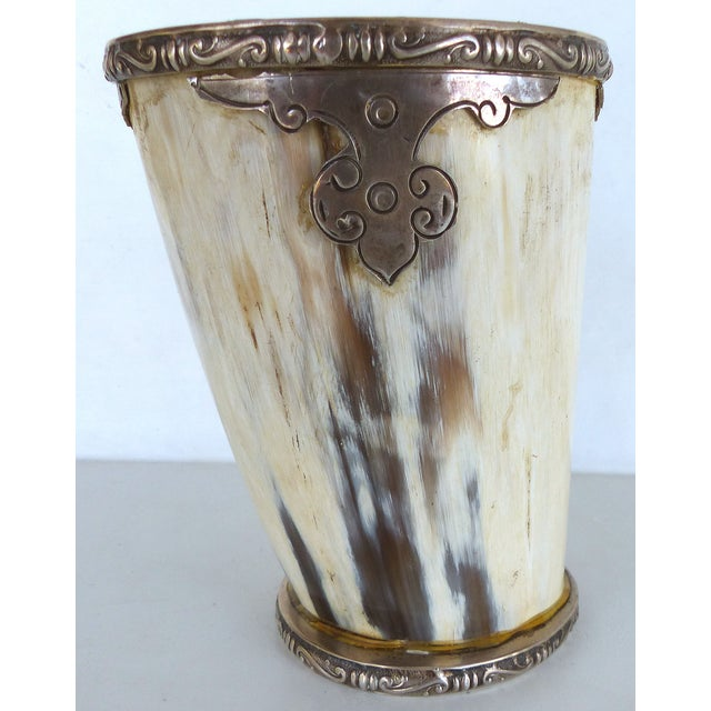 Prata Horn Hunt Cup with Silver Trim - Image 4 of 10