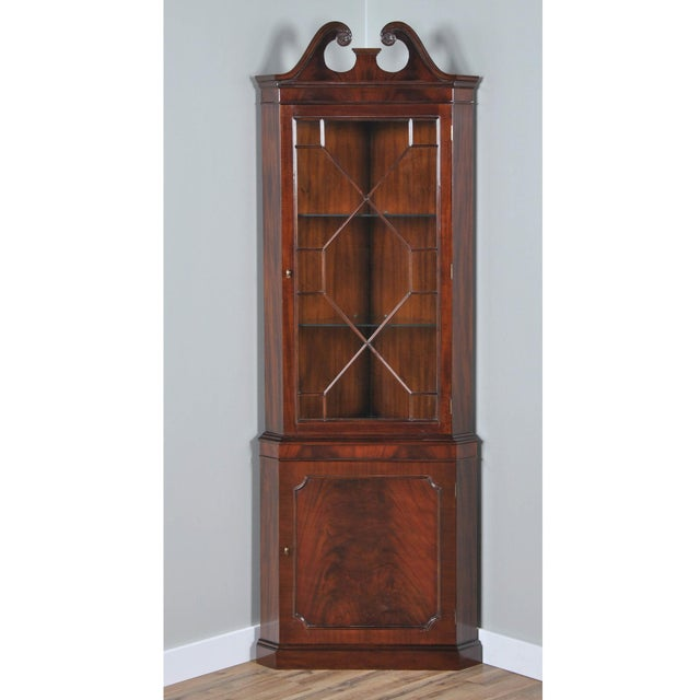 The Niagara Furniture Mahogany Corner Cabinet. A two part Corner China Closet which can be shipped and installed easily is...