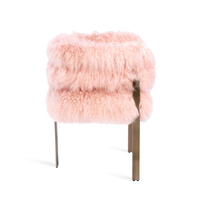 Contemporary Darcy Chair - Blush Sheepskin For Sale - Image 3 of 5
