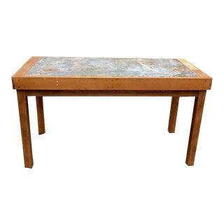 Antique Industrial Zinc Top Work Table For Sale