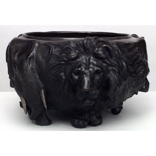 Asian Japanese Style Bronze Jardiniere For Sale In New York - Image 6 of 6
