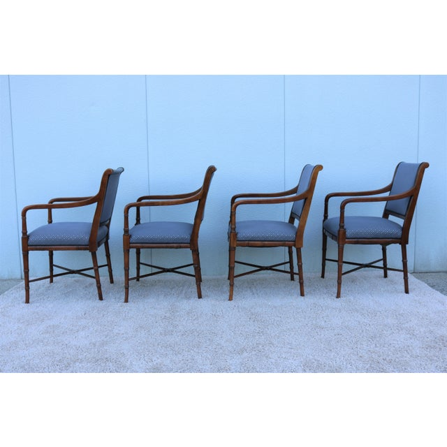 Gray 18th C. Southwood Furniture Vintage Mahogany Armchairs - Set of 4 For Sale - Image 8 of 13