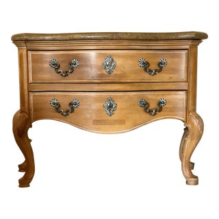 20th Century French Country Henredon Two Drawer Commode For Sale