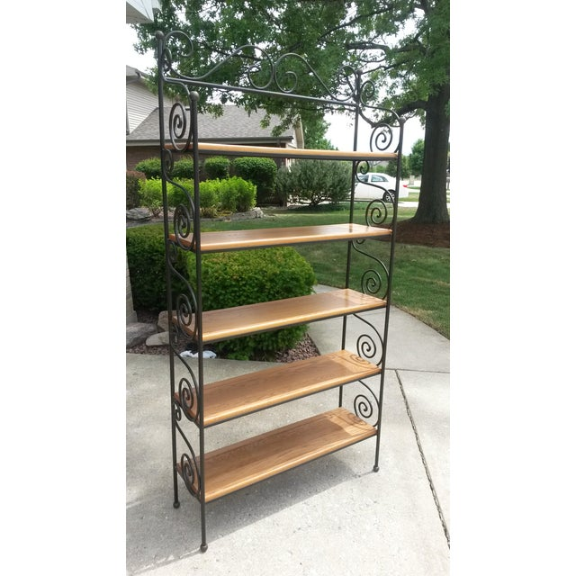 Wooden Shelf With Cast Iron Details It Is A Beautiful Piece Just Don