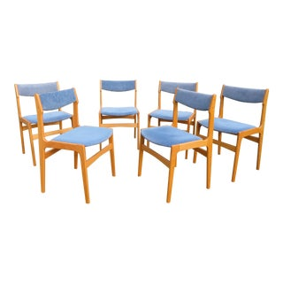 Vintage Danish Modern Dining Chairs - Set of 6