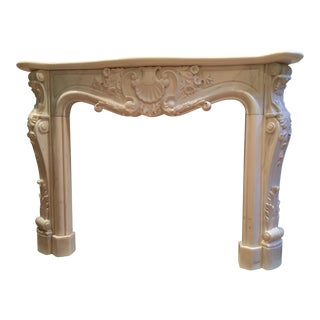 Antique French Fireplace Mantel For Sale