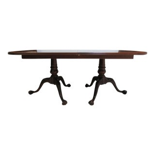 18th Century Ethan Allen Mahogany Conference Dining Table
