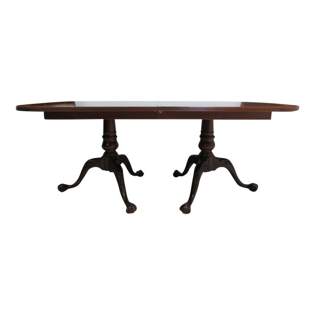 18th Century Ethan Allen Mahogany Conference Dining Table For Sale