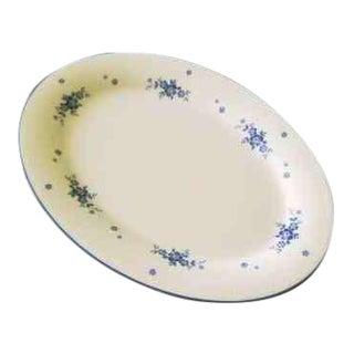 Noritake Blue Flowers & Trim Design Oval Serving Platter For Sale