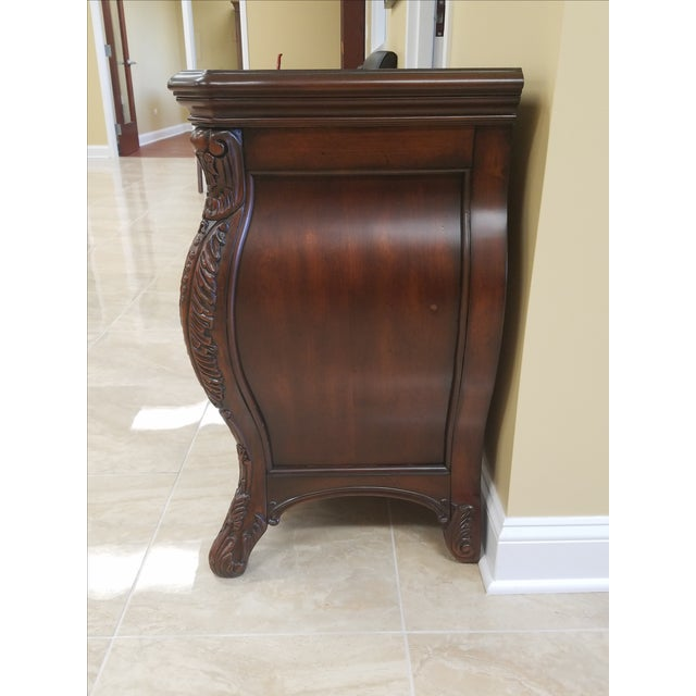 Victorian King Post Bed Nightstand For Sale - Image 4 of 8
