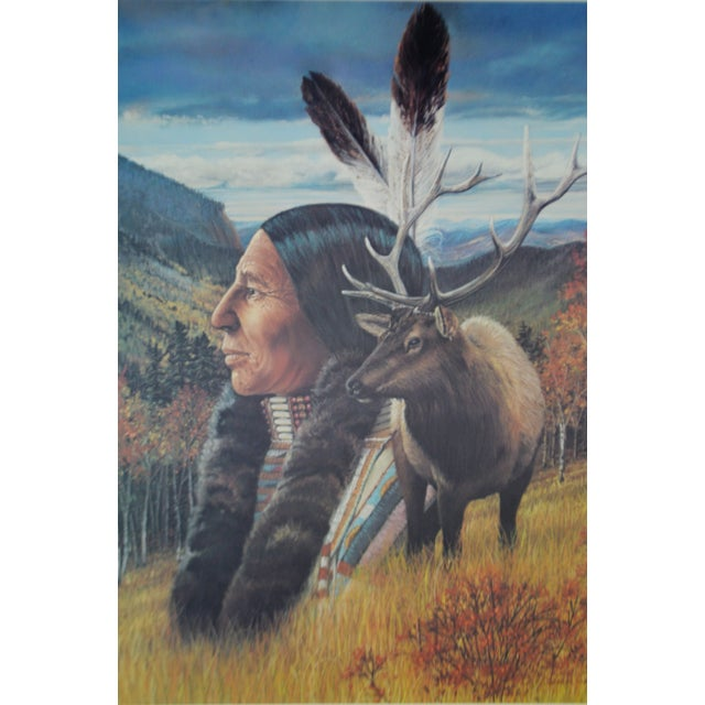 Vintage Native American Indian Print by Julie Kramer Cole Indian Prayer Poster Indian Prayer: From every heart, one...