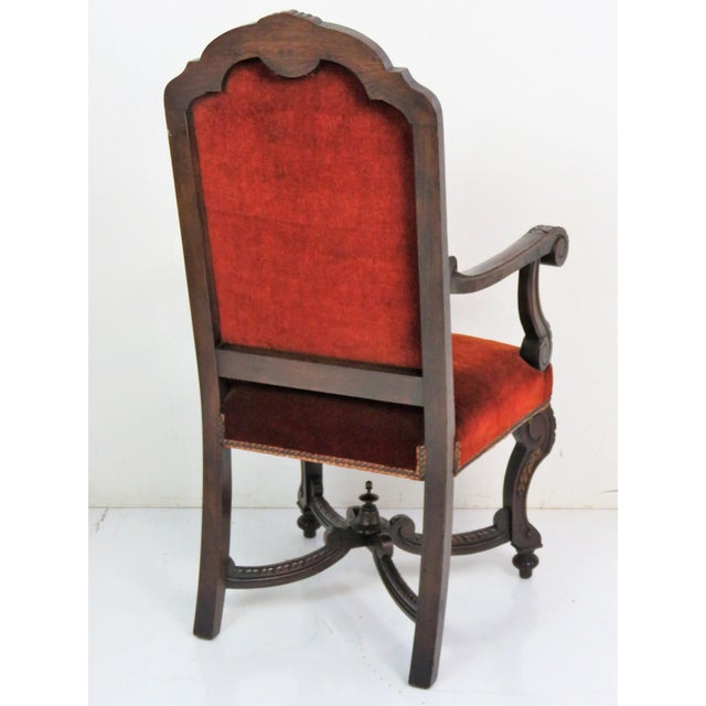 Italian Style Carved Dining Chairs - Set of 6 For Sale In Philadelphia - Image 6 of 7