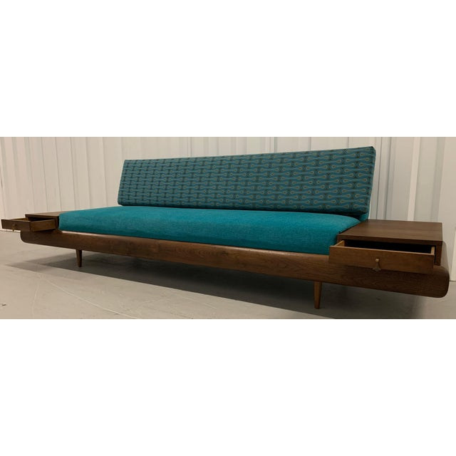 Mid-Century Modern Adrian Pearsall Sofa in Josef Hoffmann Maharam Peacock Upholstery For Sale In Charlotte - Image 6 of 8