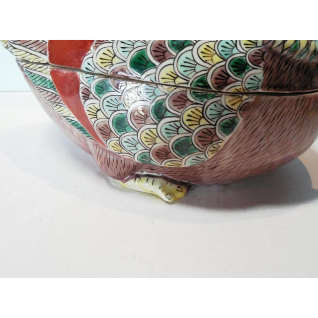 Early 20th C. Famille Rose Waterfowl Tureen - Image 7 of 8